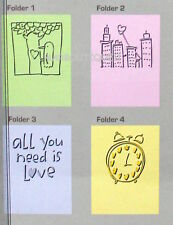 CUTTLEBUG Provo Craft ALL LOVE Set of 4 Embossing Folders NEW! Phrase City Heart
