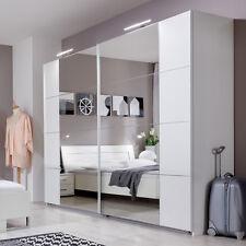 Schwebetürenschrank Davos Kleiderschrank in weiß mit Spiegel Breite 225cm