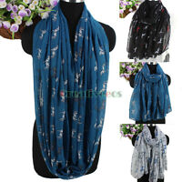 Womens Fashion Scarf Animal Scarf Cute Horses Print Soft Long/Infinity Scarf New