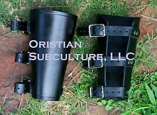 Leather Buckle Bracers Arm Armor SCA LARP cowboy cuffs archer medieval fantasy