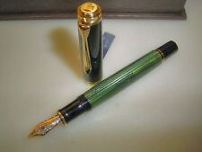 PELIKAN M800 pen, green striated, boxed
