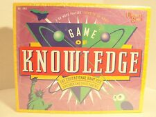 NEW GAME OF KNOWLEDGE UNIVERSITY GAMES FOR CHILDREN & THEIR PARENTS-AGES 10-ADUL
