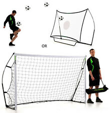 Fussballtor + Rebounder Kickster Combo 2 in 1 - 2,4 x 1,5m - 2 min Aufbauzeit
