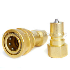 "Quick Connnect Disconnect Coupler Valves 1/4"" Carpet Cleaning Wand Truckmount QD"