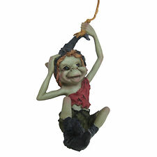 Fabuleux jardin pixie swinging sur corde ornement suspendu goblin new & boxed 39110