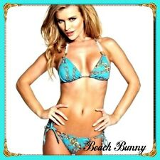 NEW LIMITED EDITION BEACH BUNNY SWIMWEAR SWEET DREAMS BLUE BIKINI BOTTOM XSMALL