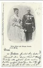 ROYALTY - KING ALBERT & QUEEN CAROLA  1899 Undivided Back Postcard GERMANY