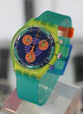 SWATCH --- Neo Wave Chronograph Ref. SCJ100 NEW w/ Box & Papers