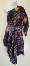 Black Native American Southwestern Tribal Poncho Maxi Coat Dress Festival Bridal