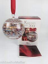 Hutschenreuther Glaskugel Kristall Kugel Weihnachtskugel 2001 mit Verpackung NEU