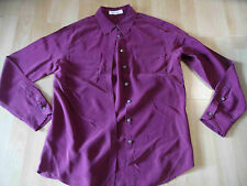 TURA by VINCE CAMUTO tolle Seidenbluse beere Gr. S TOP BSu516
