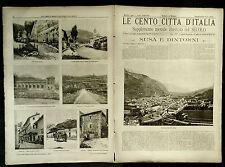 1902 = LE CENTO CITTA D'ITALIA = SUSA E DINTORNI = PIEMONTE ITALIA.ETNA.SONZOGNO
