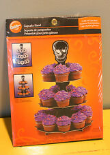 Wilton PICK YOUR POISON  Skeleton Skull 3 Tier Halloween Cupcake Stand Holds 24