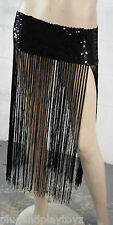 Belly Dance Wear Hip Scarf Belt Skirt Fringe Tassel Sequined Shiny Wavy Chains