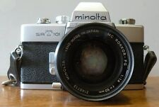 Vintage minolta srt 101 camera with Rokkor -PG 50mm lens with case