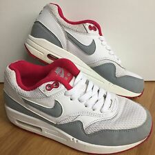 Nike Air Max 1 Essential Women's Leather Trainers Grey/White/Pink Lace-up 3/36