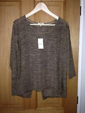 BNWT LADIES SPARKLY BRONZE  CASUAL STYLE TOP BY PAPAYA  WEEKEND - SIZE UK MEDIUM
