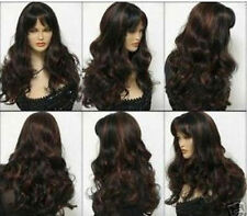 CHSW68 fancy curly long brown red mixed natural hair wigs for women wig