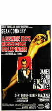 007 MISSIONE GOLDFINGER  LOCANDINA JAMES BOND SEAN CONNERY GERT FROBE BLACKMAN