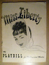 1949 PlayBill Imperial Theatre Programme: MISS LIBERTY, 25 July