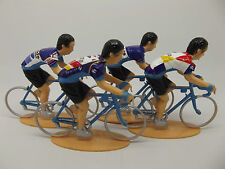 Miguel Indurain figures collection, Banesto, reynolds, pinarello, campagnolo.