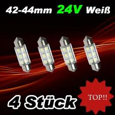 4 Stück 6SMD Weisse 6 SMD LED Sofitte LKW 24 V Soffitte 42 - 44 mm Weiss MAN