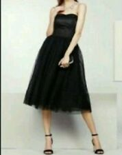 NEXT BLACK PROM EMBELLISHED LACE MESH DRESS 12  BNWT £125