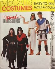 McCalls Sewing Pattern Costume 9495 Witch Dracula Princess Warrior Adult Large