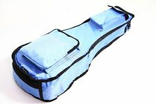 21 inch LIGHT BLUE ukulele bag 10mm padded deluxe waterproof kids soprano case