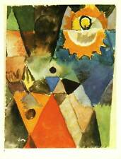 """Klee Authentic Vintage Print 1972 """"With the Gas Lamp"""""""