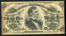 25 Twenty Five Cents Third Issue Fractional Currency Note About Uncirculated