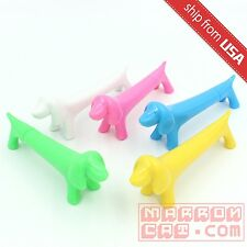 US Lot 5pcs Dog Puppy Figure Ball Point Pens novelty Gift Cute fun Office Kawaii