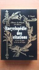 ENCYCLOPEDIE DES CITATIONS - P. DUPRE - LANGUE FRANCAISE - LINGUISTIQUE