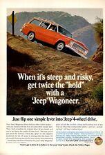 1966 Kaiser JEEP Wagoneer 4-Wheel Drive PRINT AD
