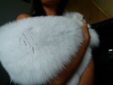 Gorgeous Pure White Real Arctic Fox Fur Stole, Collar- Bridal, New
