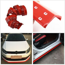 2.5m Red Vehicles Body Bumper Lip Splitter Spoiler Valance Skirt Protector Pad