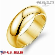 Personalized Engraved Men's Stainless Steel Engagement Promise Wedding Band Ring
