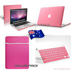 """3 IN 1 Hard Rubberized Case Cover Sleeve Bag For Macbook Pro w/Retina 13"""" Laptop"""