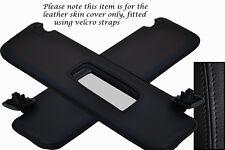 Costura negra se adapta a Opel Opel Tigra 04-09 2x Sol Viseras Cuero cubre sólo
