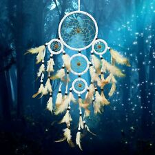 Handmade Acchiappa Sogni Bianco Indiani Dreamcatcher Wall Hanging Ornament White