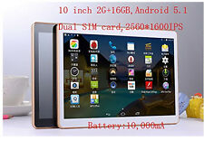 10'' HD 2560*1600 IPS  Android 5.1 Octa core CPU 1.6G HZ Dual SIM 4G Tablet PC