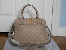 New Auth Marc Jacobs Whitney Quilted Leather Satchel Tote Bag Handbag $1350Blush