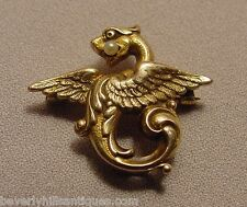 Antique 14k Griffin Pearl Pin/Watch Holder