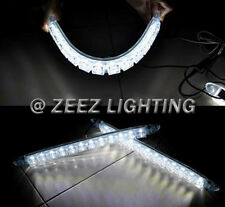Silicone Gel With Projector Lens 12 LED Daytime Running Light DRL Lamp Kit C90