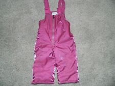 Girl's Pink Shiny Snow Suit Bib Overalls Size 2T