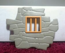 PLAYMOBIL PIECE OF WALL WITH BARS - PLAYMOBIL PARTS - PLAYMOBIL PIECES