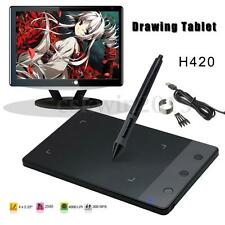 USB Art Design Photoshop Graphic Drawing Tablet Pad + Digital Pen for Huion H420