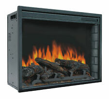 "23"" Electric Firebox Insert - with Fan Heater and Glowing Logs for Fireplace"