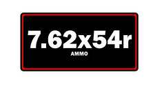 7.62x54r ammo label can vinyl sticker decal bumper gun rifle bullet glock ar15