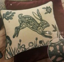 NEXT EMBROIDERED FOLKLORIC  HARE CUSHION BNWT